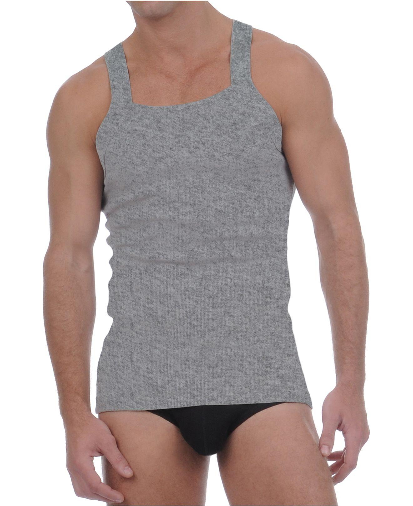 df9435e5abc08 Lyst - 2xist Essential 2 Pack Square-cut Tank in Gray for Men