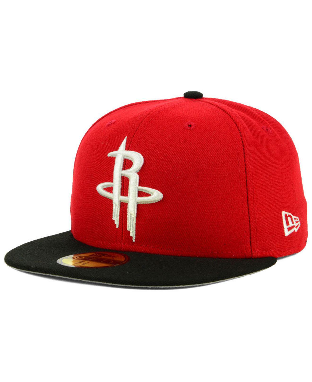 new arrival 4c8a1 256fc KTZ. Men s Red Houston Rockets Basic 2 Tone 59fifty Fitted Cap