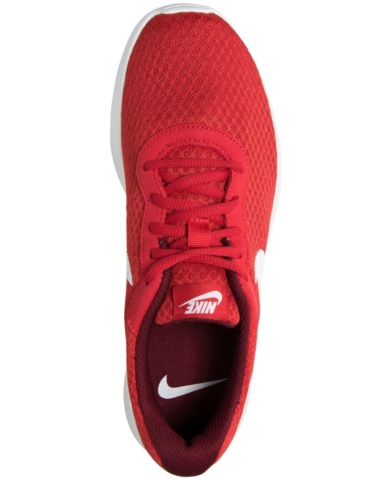 0afc4c143ac ... netherlands nike red tanjun casual sneakers from finish line for men  lyst. view fullscreen ae590