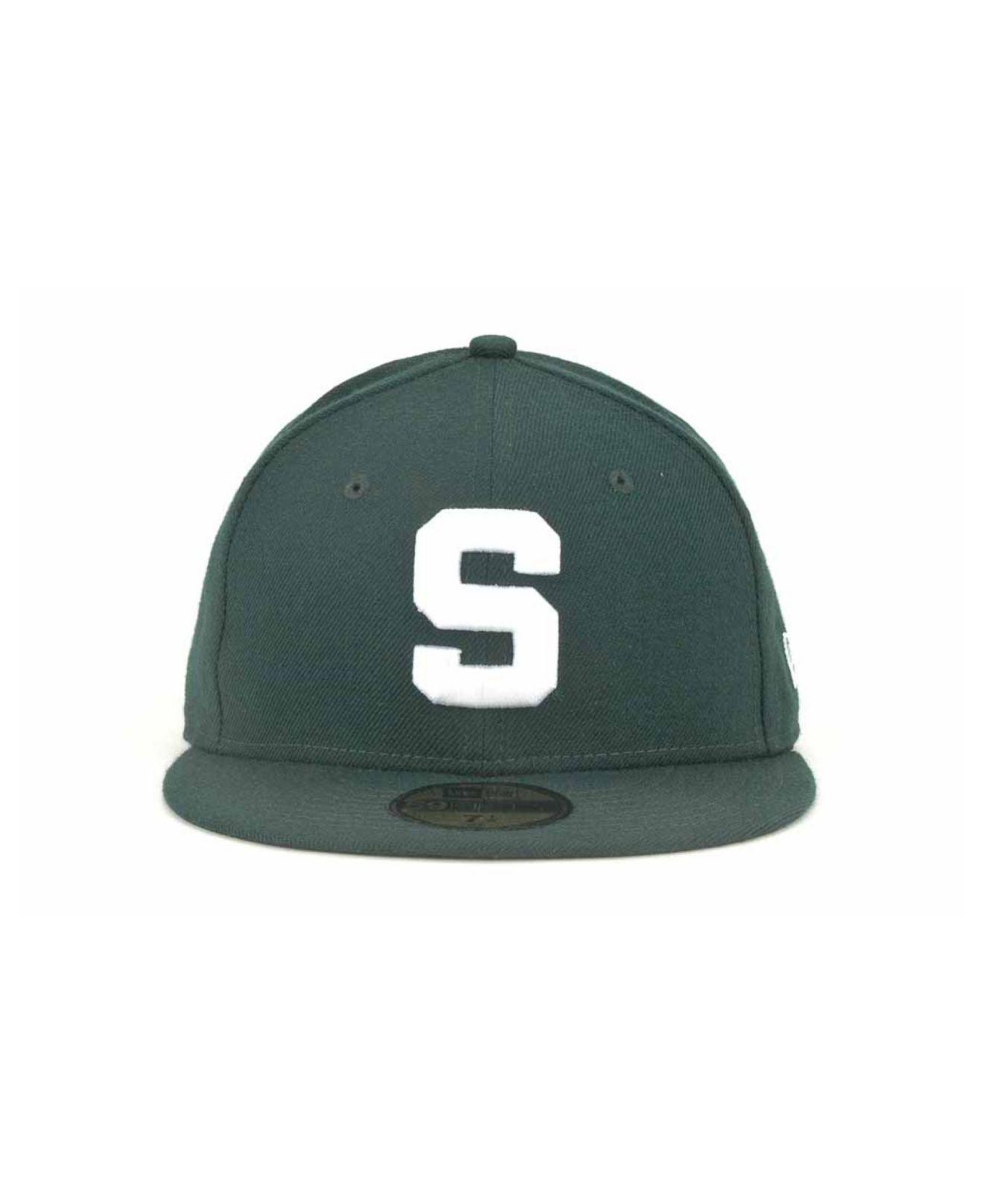 63d2ff360f2 sweden lyst ktz michigan state spartans 59fifty cap in green for men 9a70c  9abbd