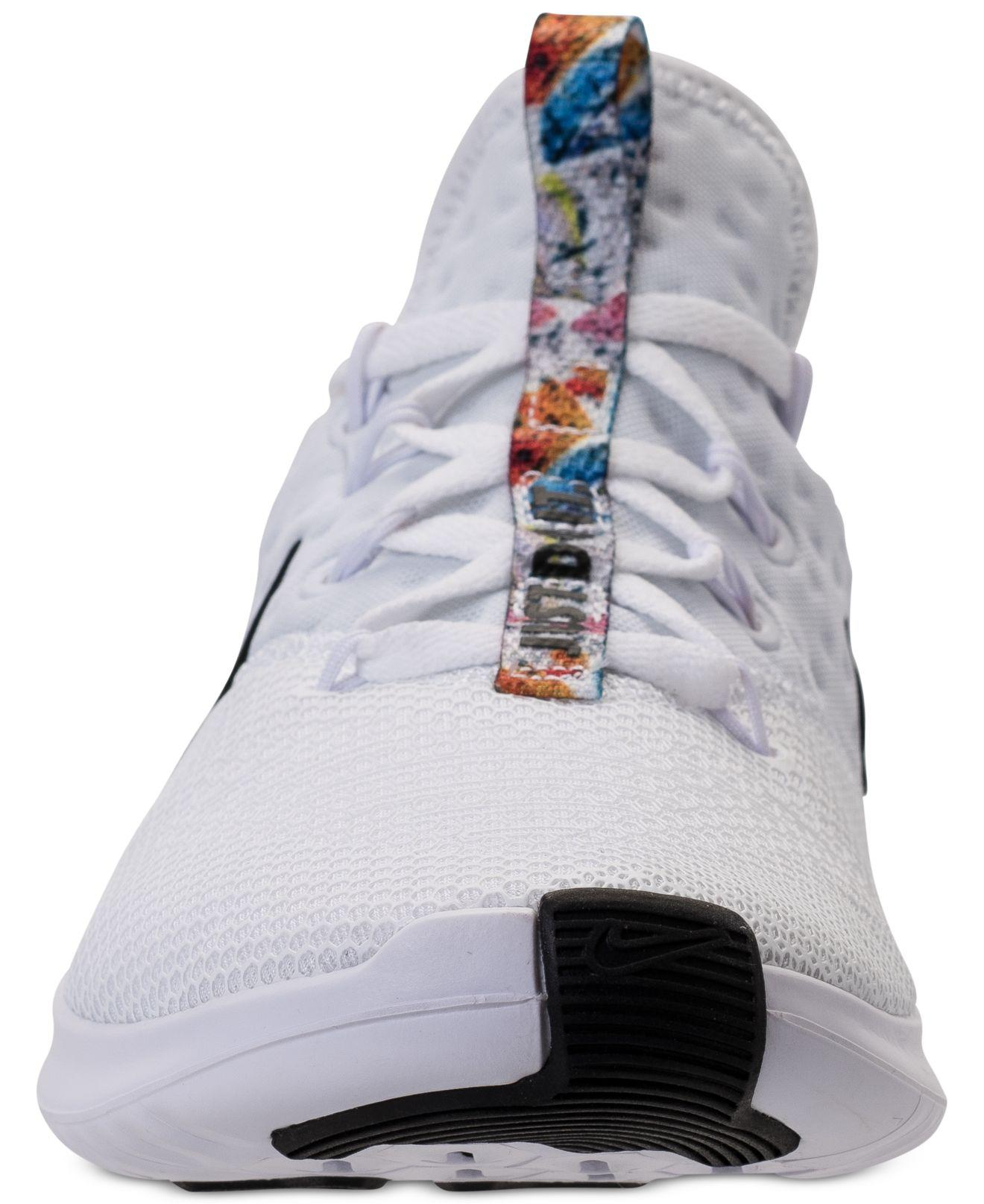 3e21ee43b1e13 Lyst - Nike Free Tr 8 Print Training Sneakers From Finish Line in White