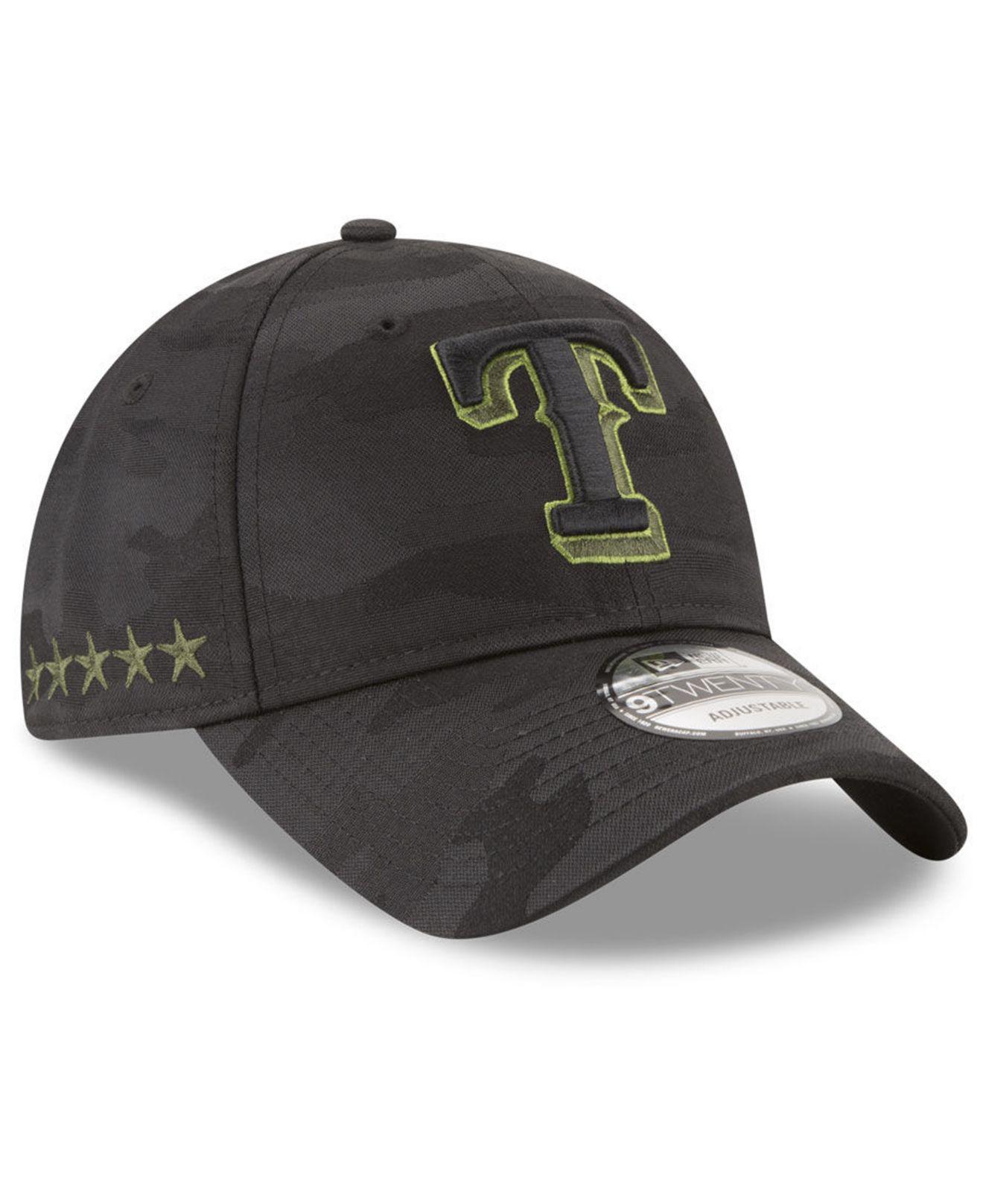 5f8f3822984 Lyst - KTZ Texas Rangers Memorial Day 9twenty Cap in Black for Men