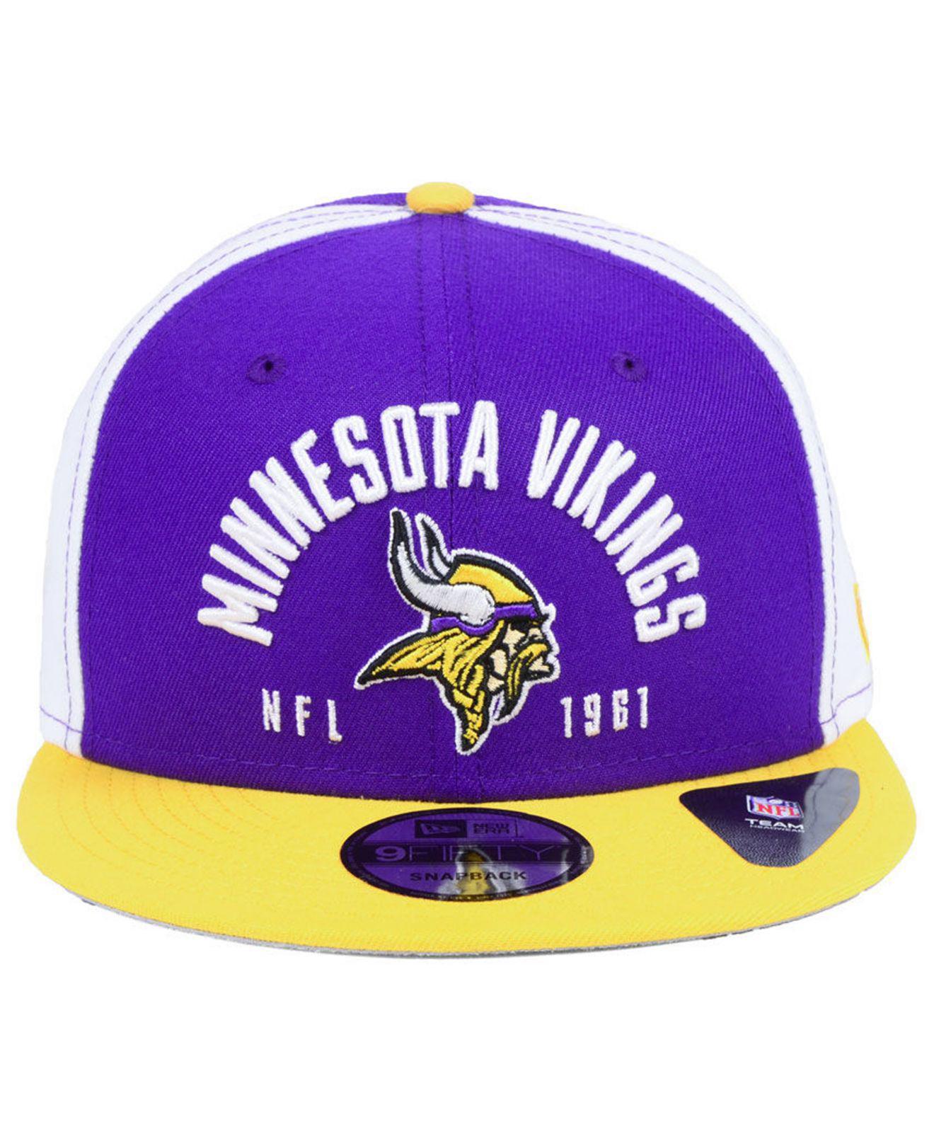 081e7308d Lyst - Ktz Minnesota Vikings Establisher 9fifty Snapback Cap in Purple for  Men