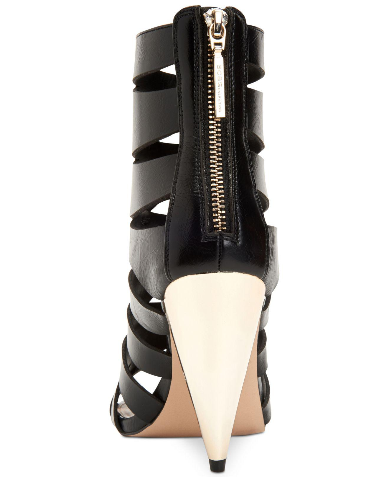 dcb1809add Lyst - BCBGeneration Nadeline Cone-heel Dress Sandals in Black