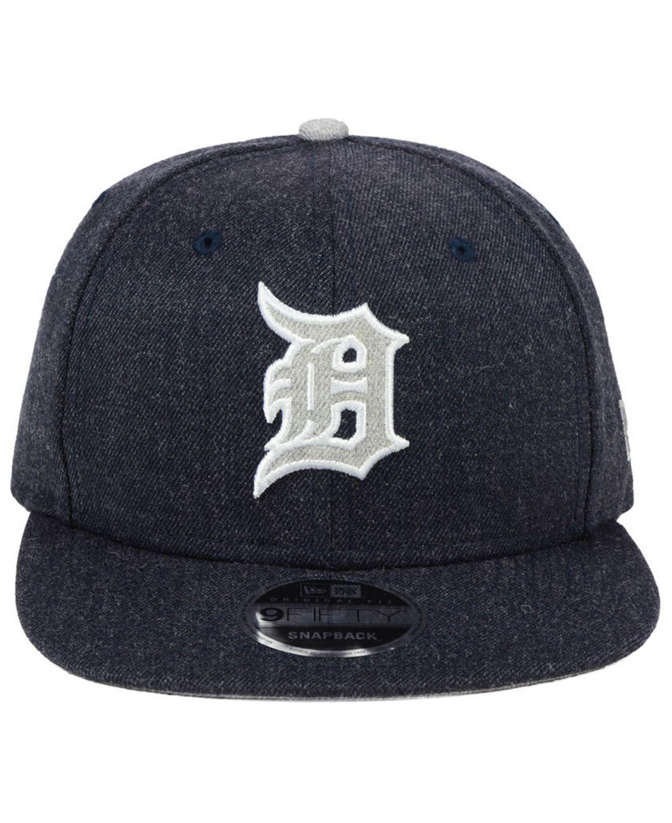 online retailer a781d 42bdc ... denmark lyst ktz detroit tigers heather hype 9fifty snapback cap in blue  8e808 ee171