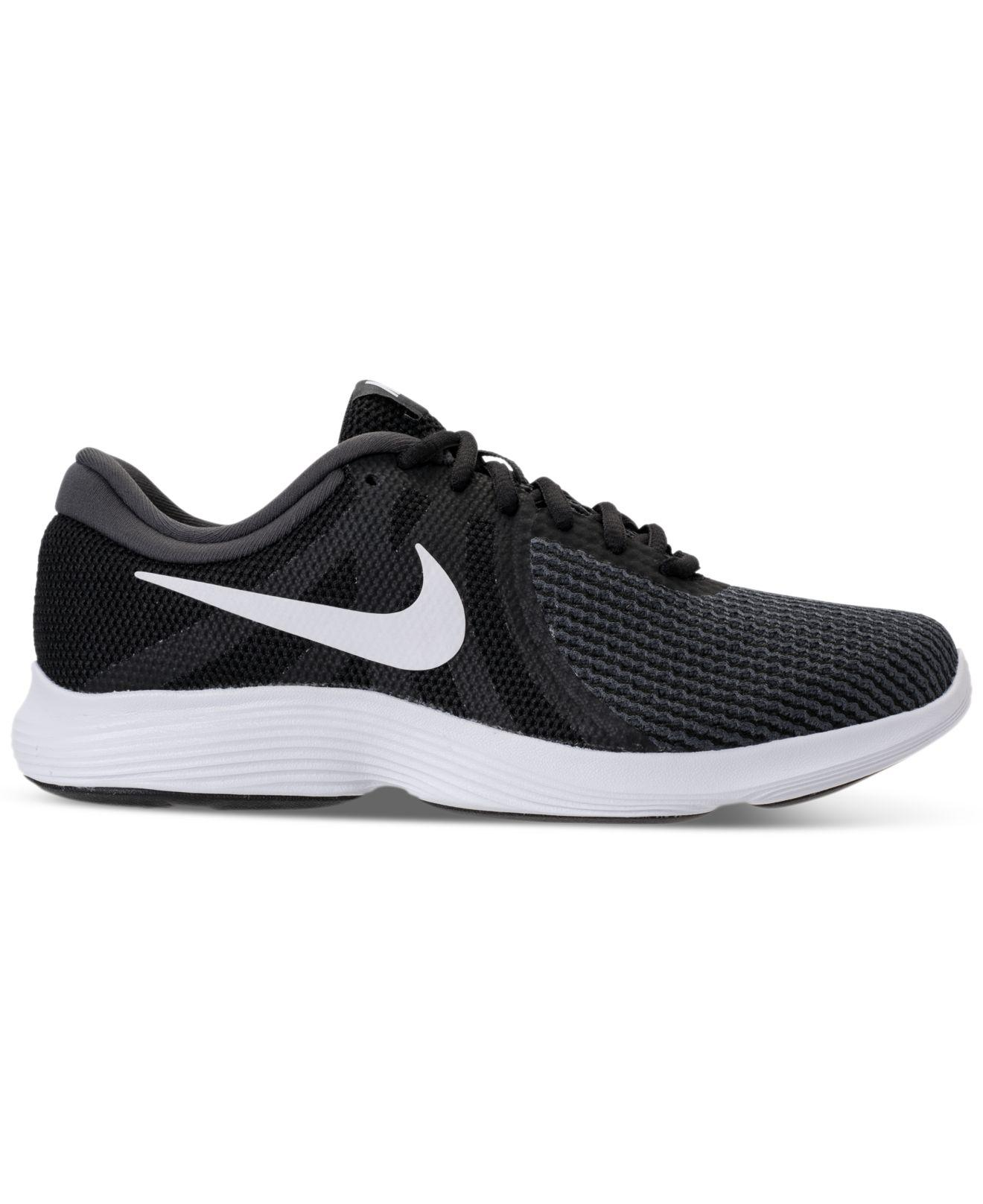 bf2f2cf19efc Lyst - Nike Women s Revolution 4 Running Sneakers From Finish Line in Black