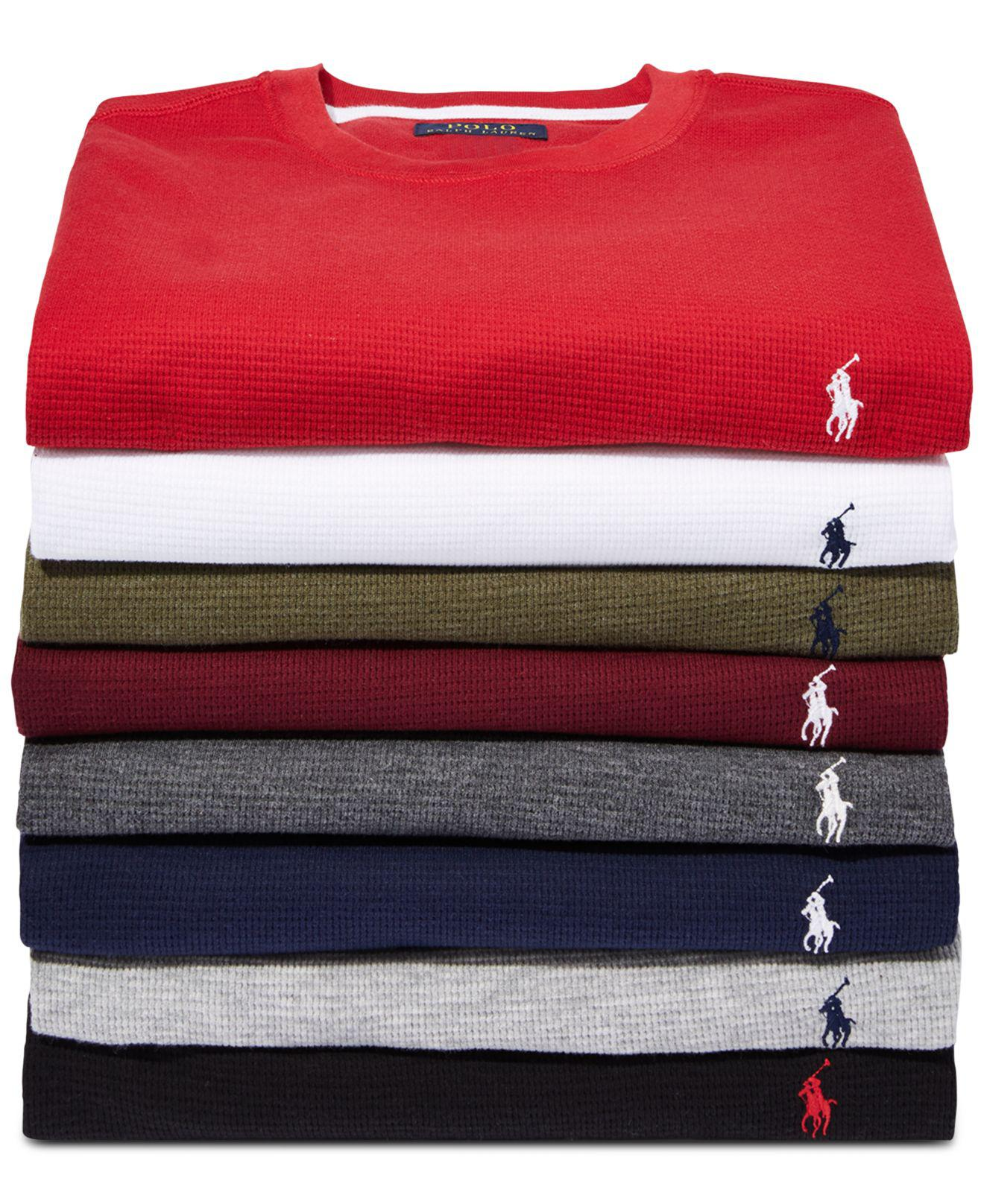 5e5262b3f Lyst - Polo Ralph Lauren Waffle-knit Thermal in Gray for Men