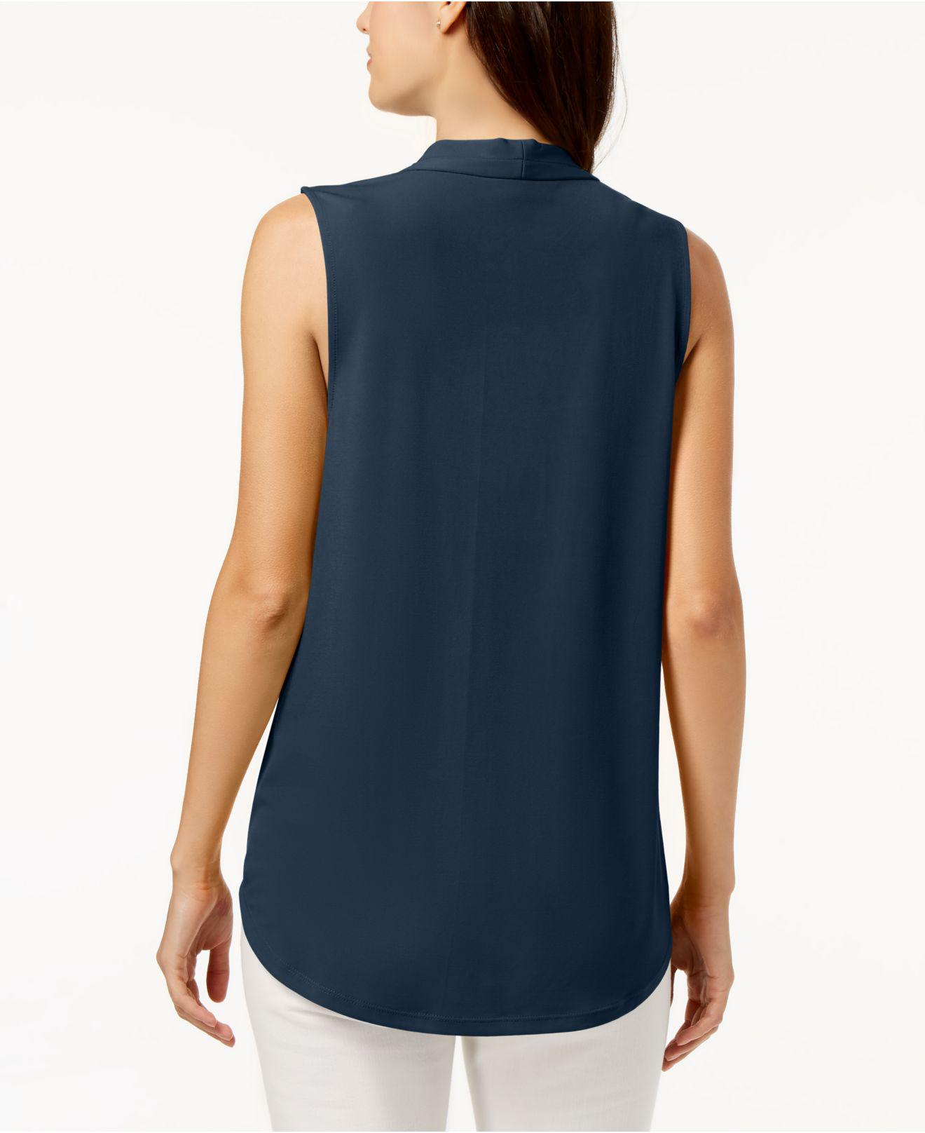5702438c721d3 Lyst - Charter Club Petite Pleated Top