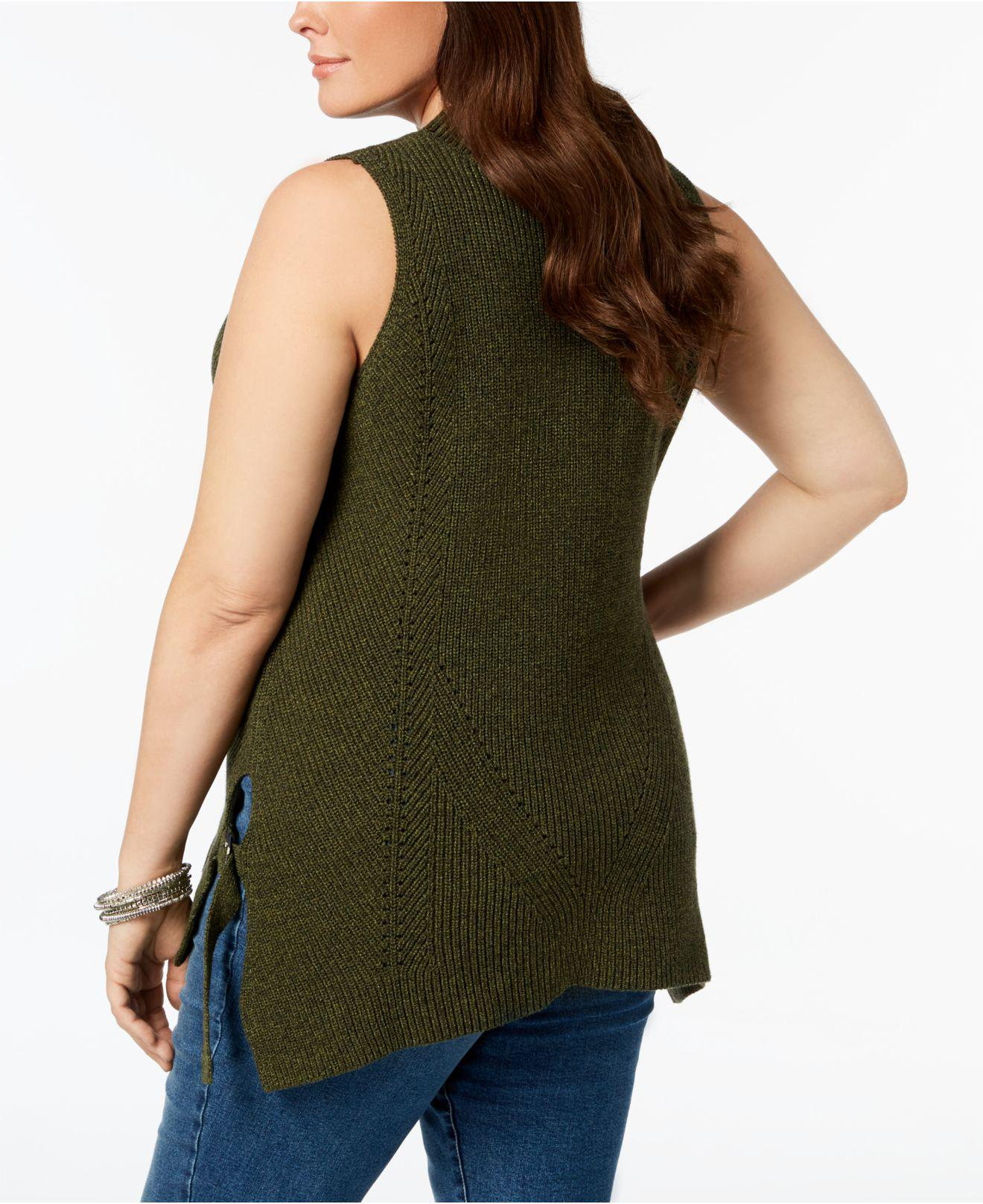 619ddb07c7a4f Lyst - 525 America Plus Size Sleeveless Tunic Sweater
