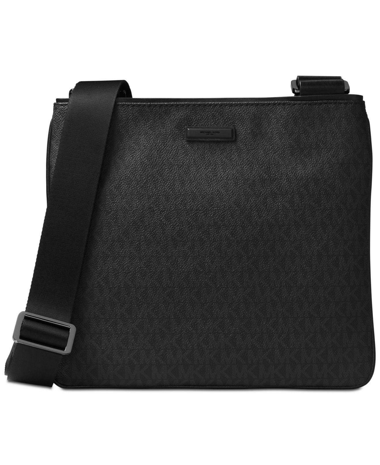 3c3499f4631b3 Michael Kors - Black Logo-print Crossbody Bag for Men - Lyst. View  fullscreen