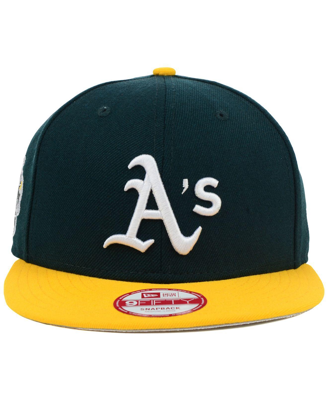 ee27c7b0ae2b27 ... Oakland Athletics Mlb 2 Tone Link 9fifty Snapback Cap for Men - Lyst.  View fullscreen
