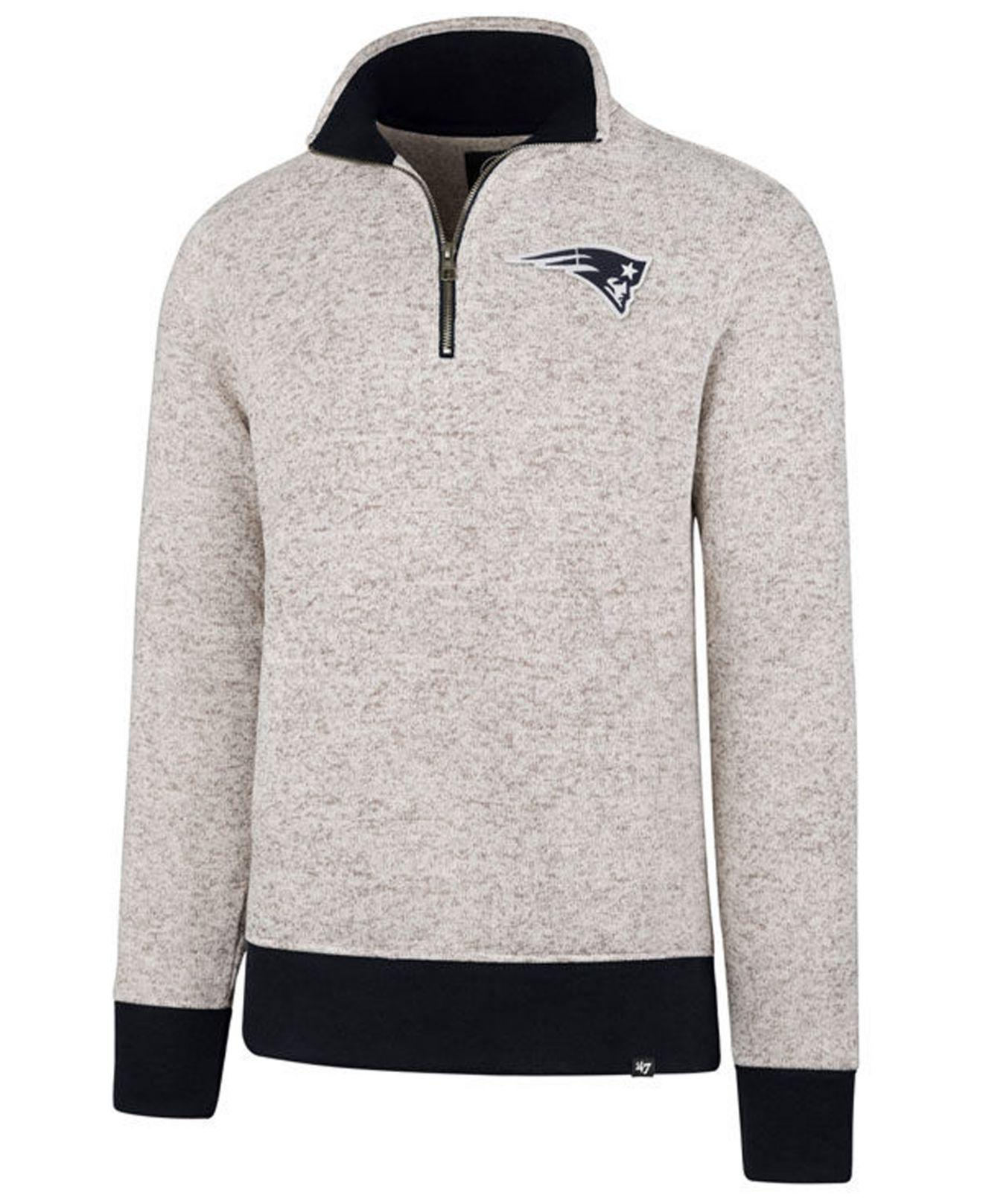 fca65a6bf Lyst - 47 Brand New England Patriots Kodiak Quarter-zip Pullover in ...