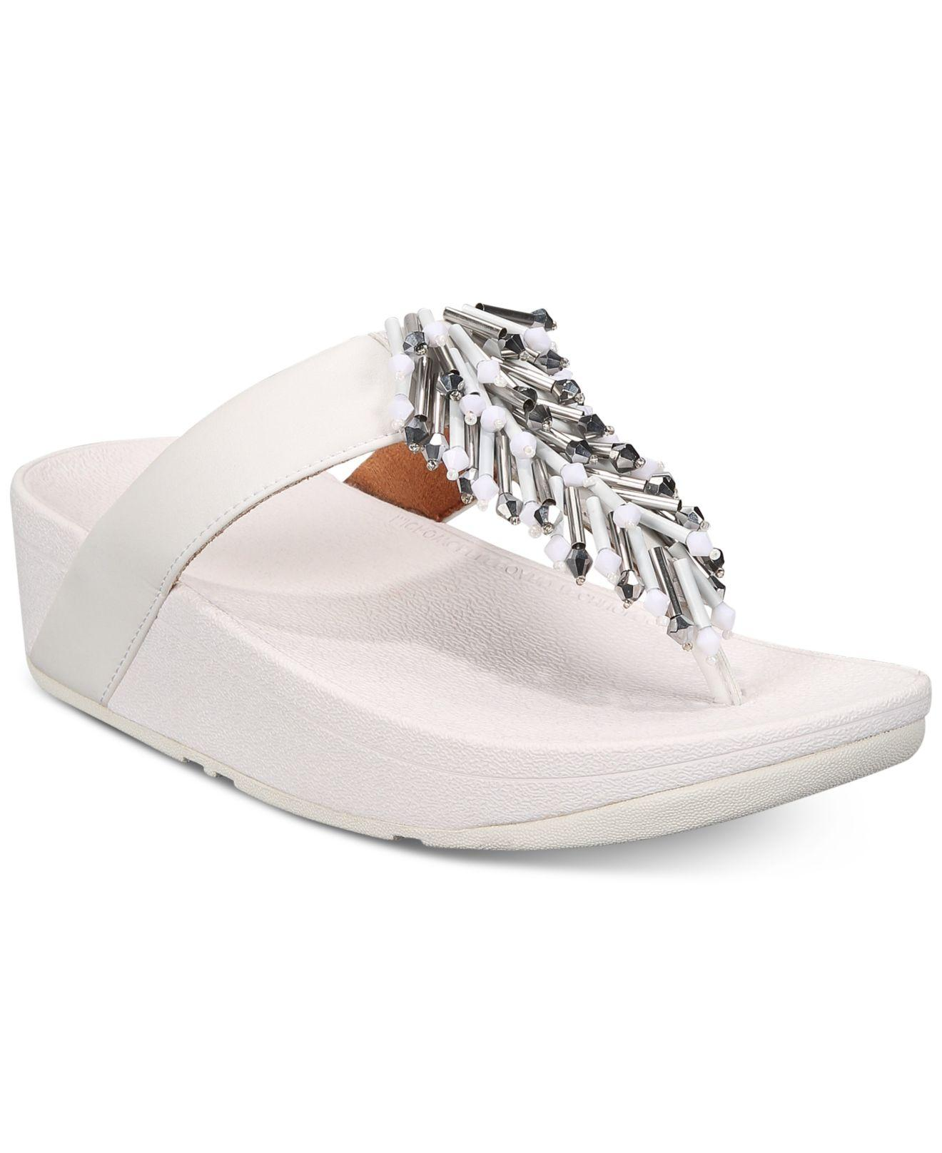 27dcb54ed Lyst - Fitflop Jive Treasure Flip-flop Sandals in White