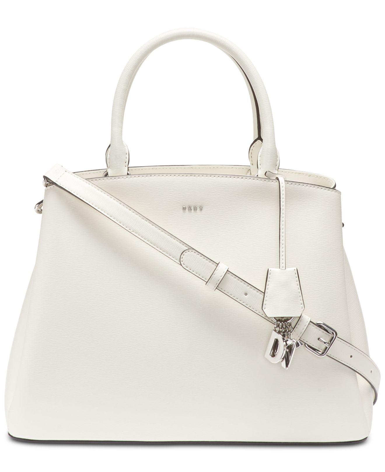 DKNY - White Paige Leather Large Satchel, Created For Macy s - Lyst. View  fullscreen e0587b12ff
