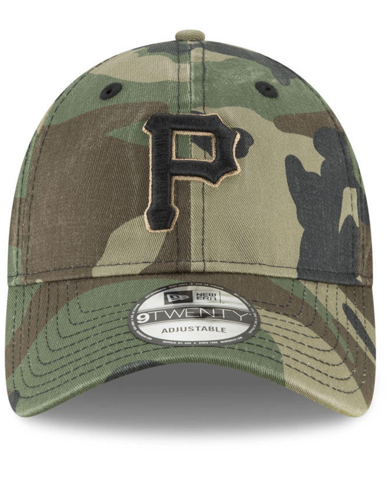 4a19001de8e Lyst - KTZ Pittsburgh Pirates Camo Core Classic 9twenty Cap in Green for Men