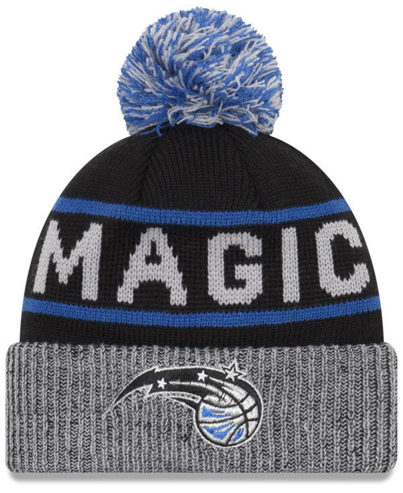 uk availability 6ad65 69042 ... where can i buy ktz. mens black orlando magic court force pom knit hat  ede37