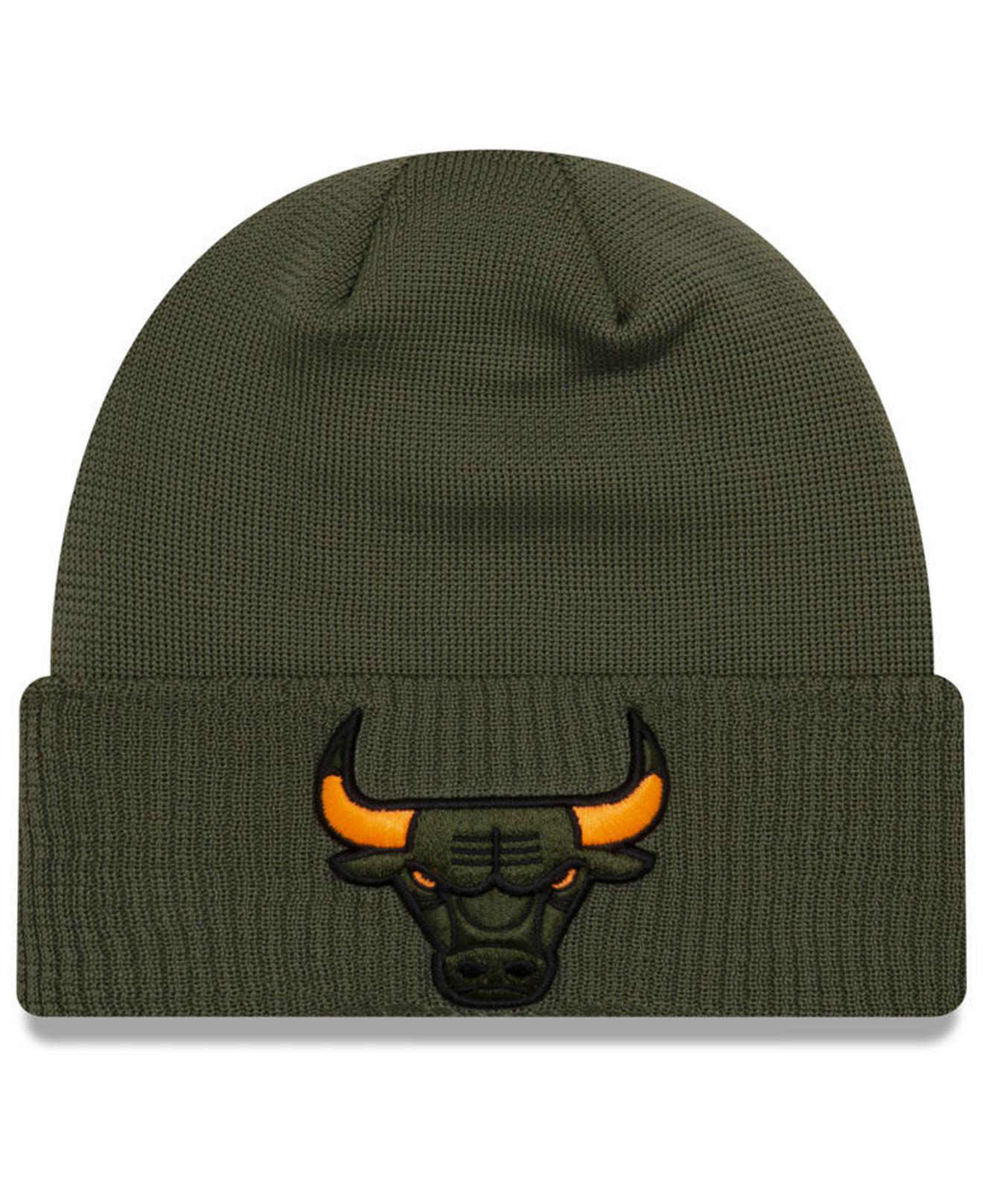 24a396534a2 Lyst - KTZ Chicago Bulls Tip Pop Cuffed Knit Hat in Green for Men