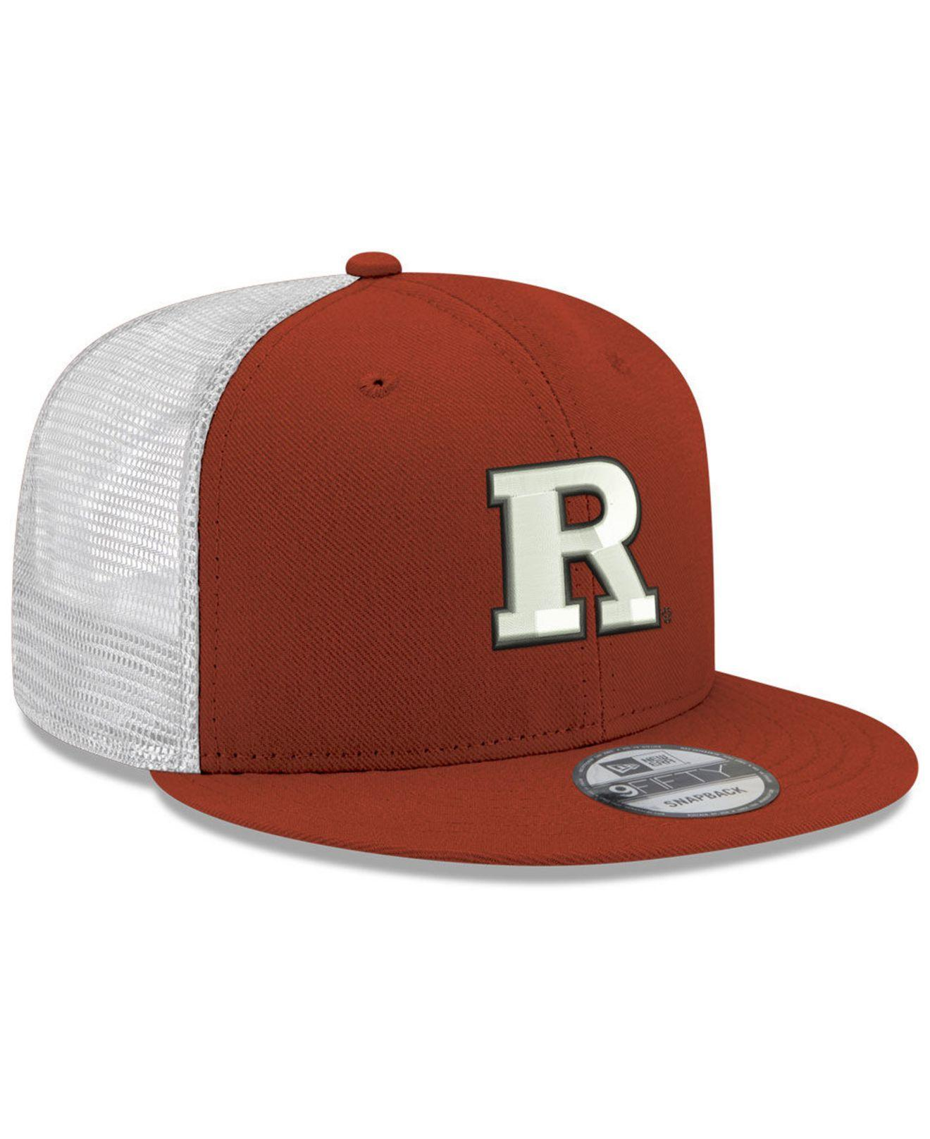 new products c55fa fad7a Lyst - KTZ Rutgers Scarlet Knights Tc Meshback Snapback Cap in Red for Men
