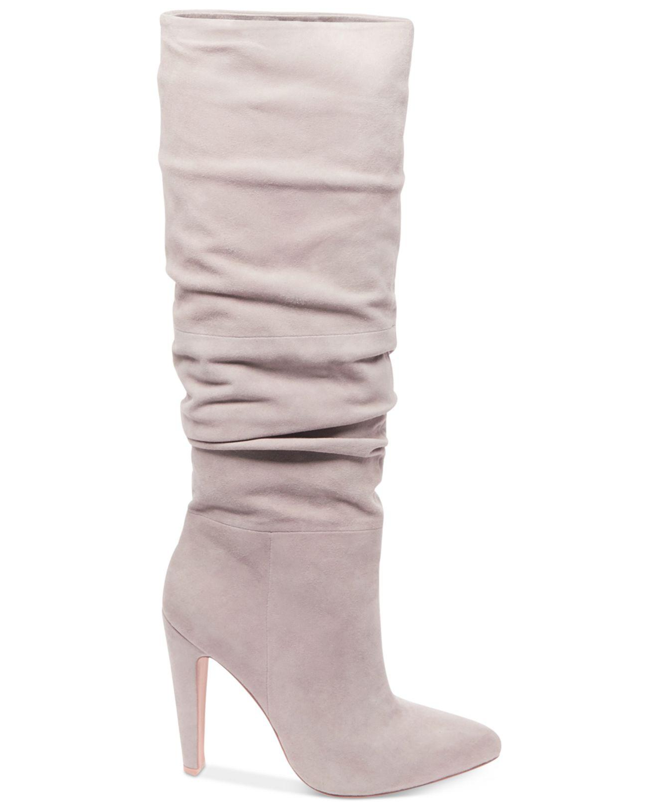c7c10640c2a Lyst - Steve Madden Women's Carrie Slouchy Boots in Gray