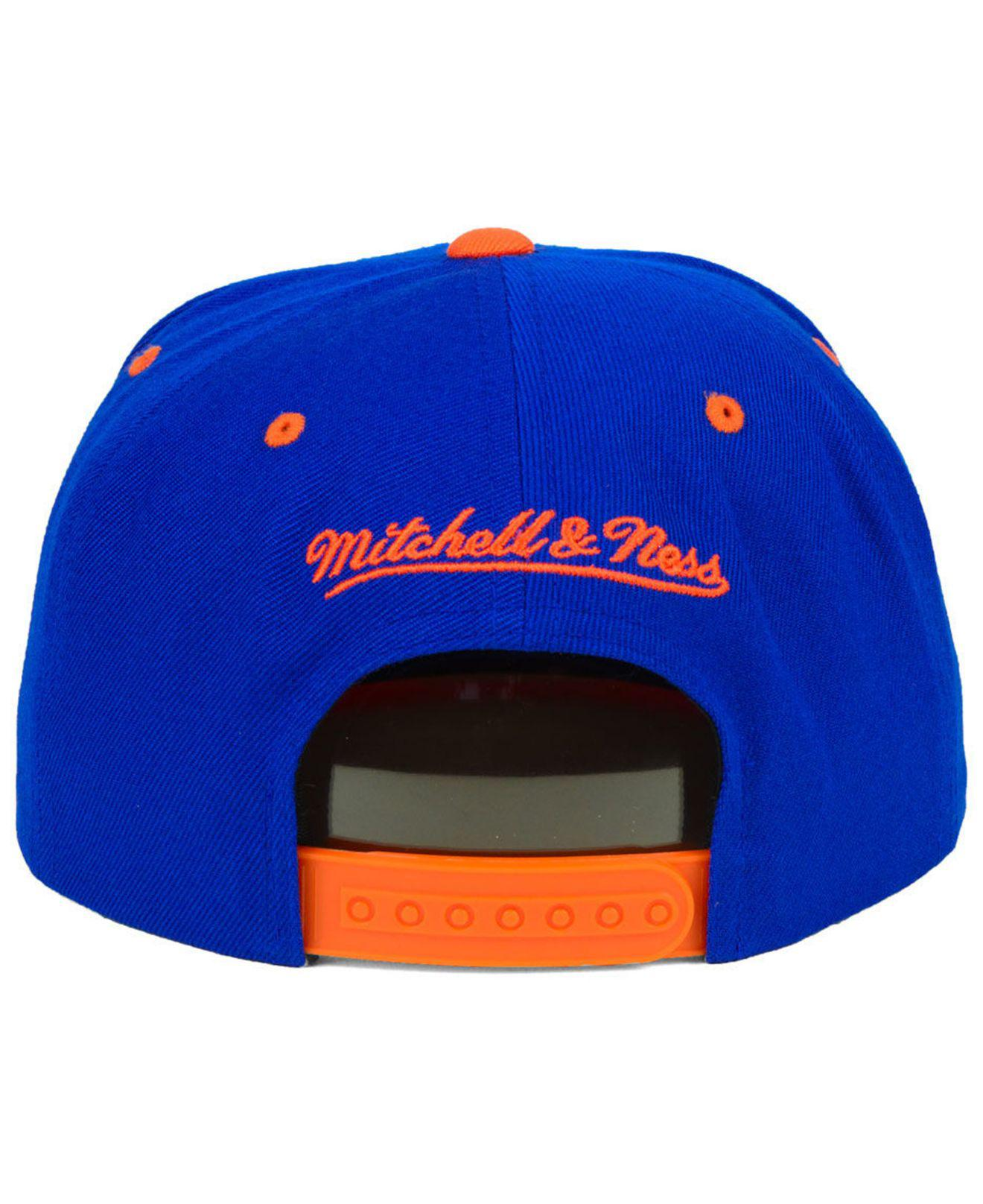 044deb7bf6e Lyst - Mitchell   Ness New York Knicks Rubber Weld Snapback Cap in ...
