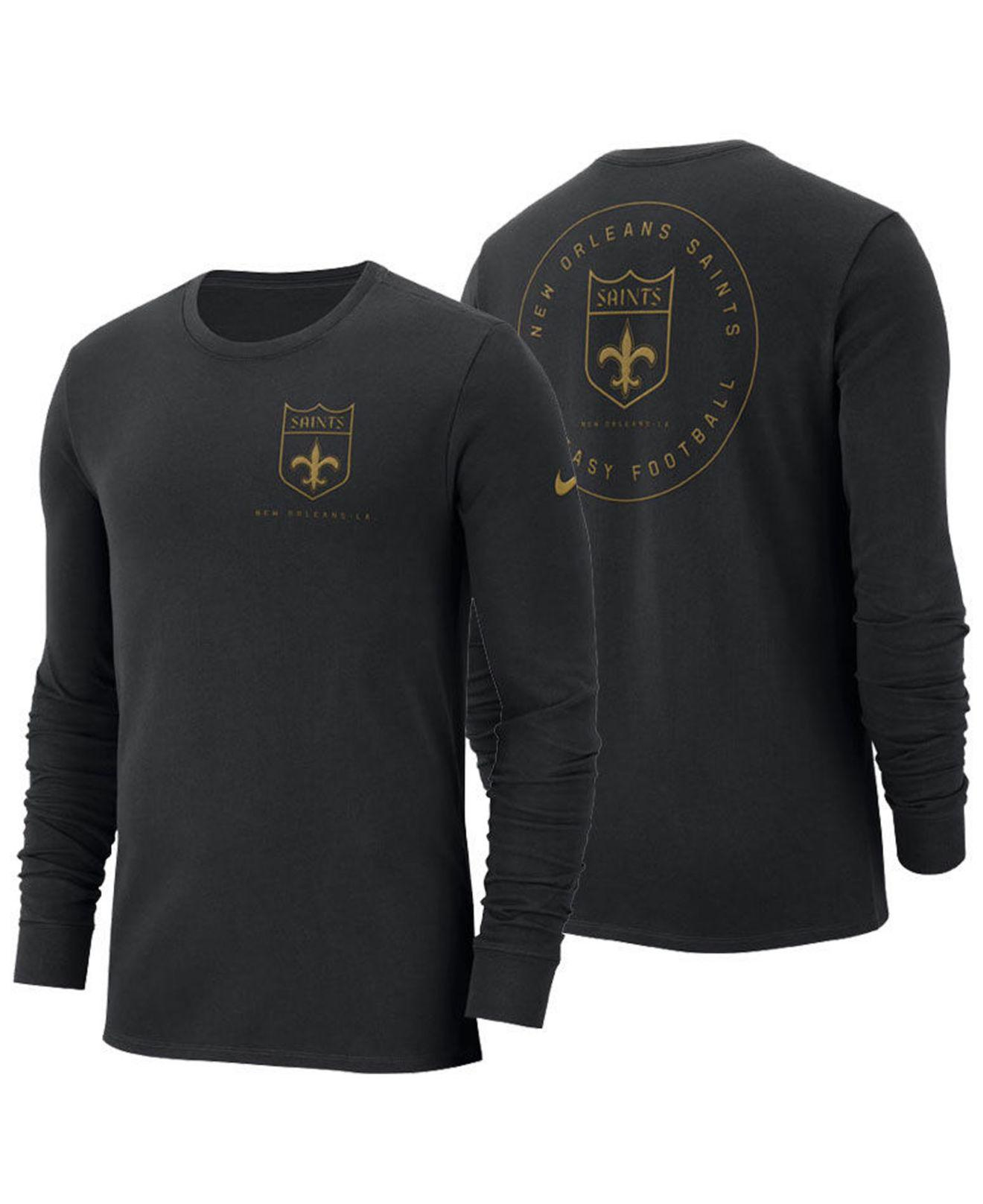 3d03dc5f3 Lyst - Nike New Orleans Saints Heavyweight Seal Long Sleeve T-shirt ...