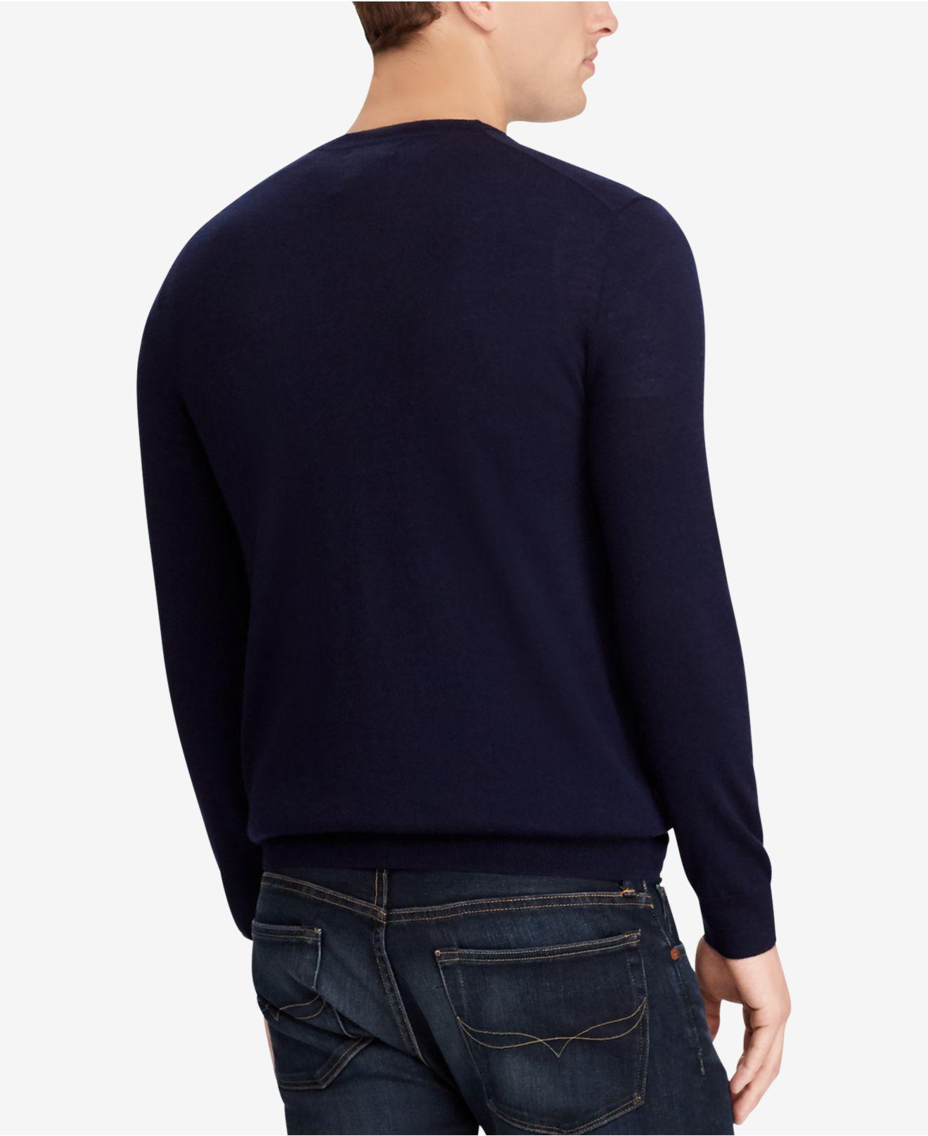 f428f789b12 ... australia lyst polo ralph lauren big tall merino wool sweater in blue  for men 521f1 d8dd8