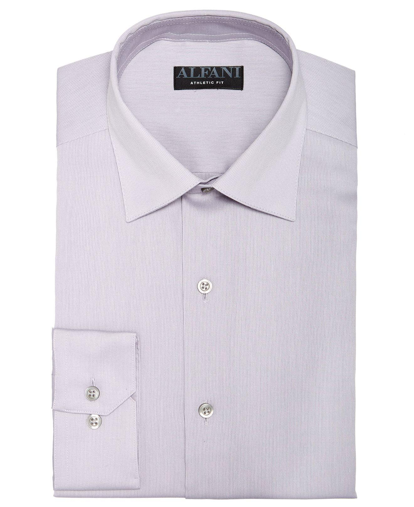 Lyst Alfani Athletic Fit Bedford Cord Dress Shirt Created For