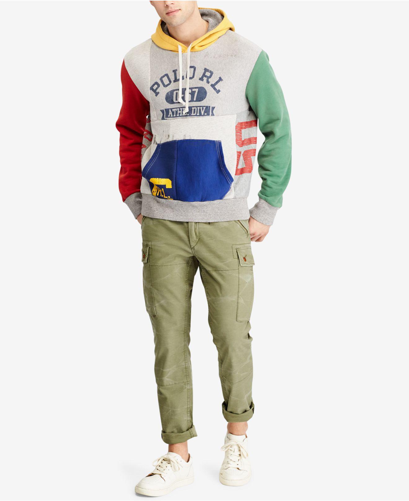 44314628c ... netherlands germany lyst polo ralph lauren mens patchwork hoodie for men  7b430 93d3f 51cfd ba557