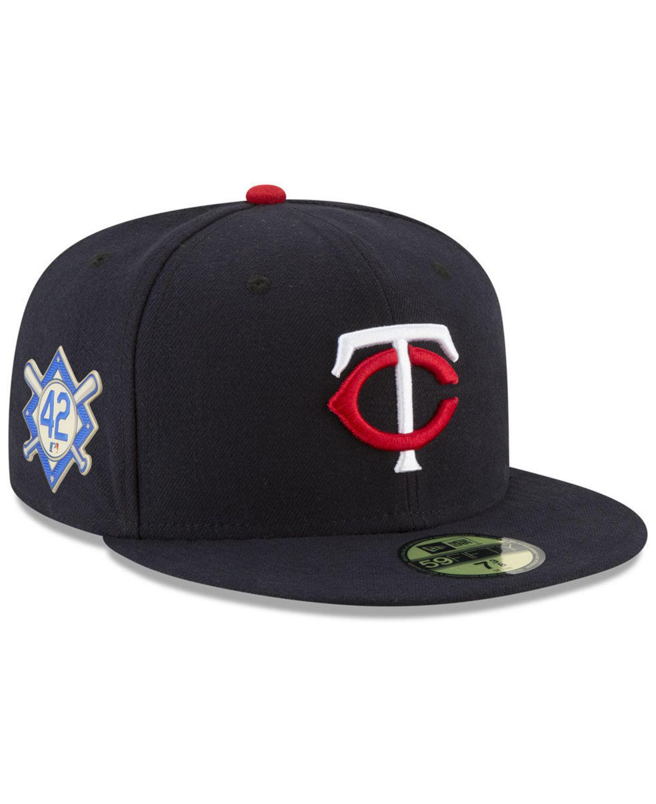 lowest price 2627c a403d KTZ. Men s Blue Minnesota Twins Jackie Robinson Day 59fifty Fitted Cap