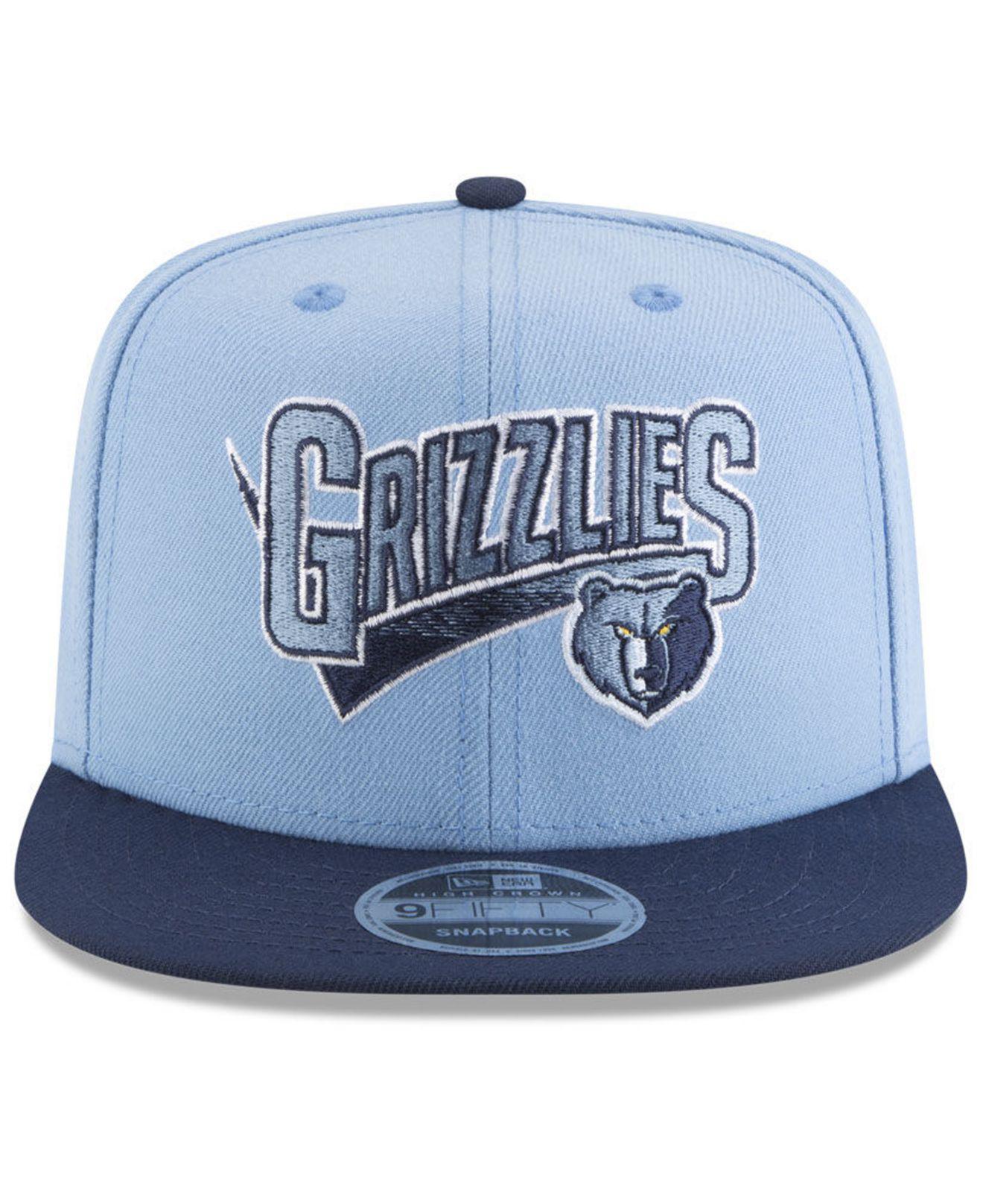 Lyst - KTZ Memphis Grizzlies Retro Tail 9fifty Snapback Cap in Blue for Men 86df493fbd1