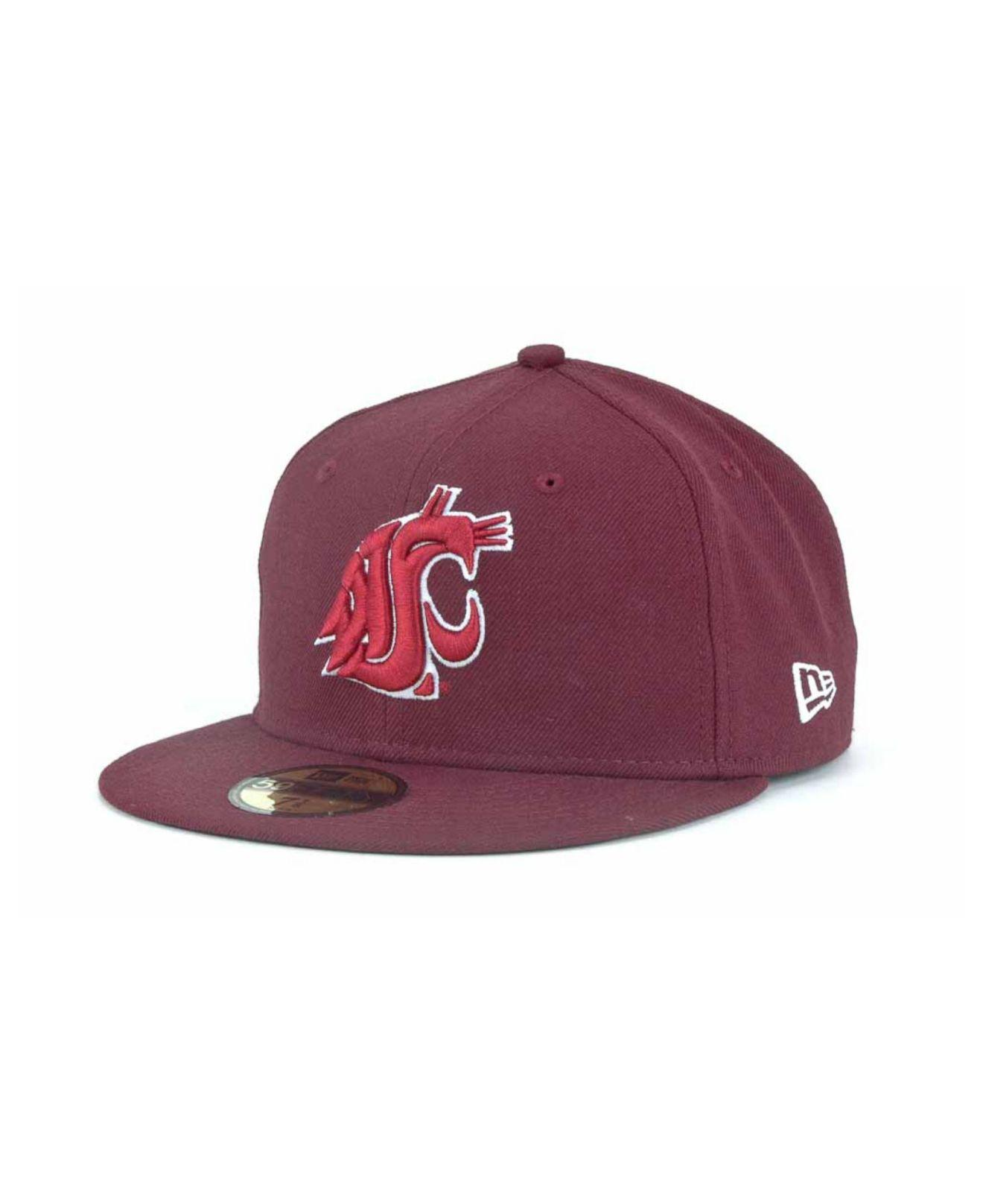 pretty nice 20ca4 f9dd8 ... closeout ktz. mens purple washington state cougars 59fifty cap 77187  6860a