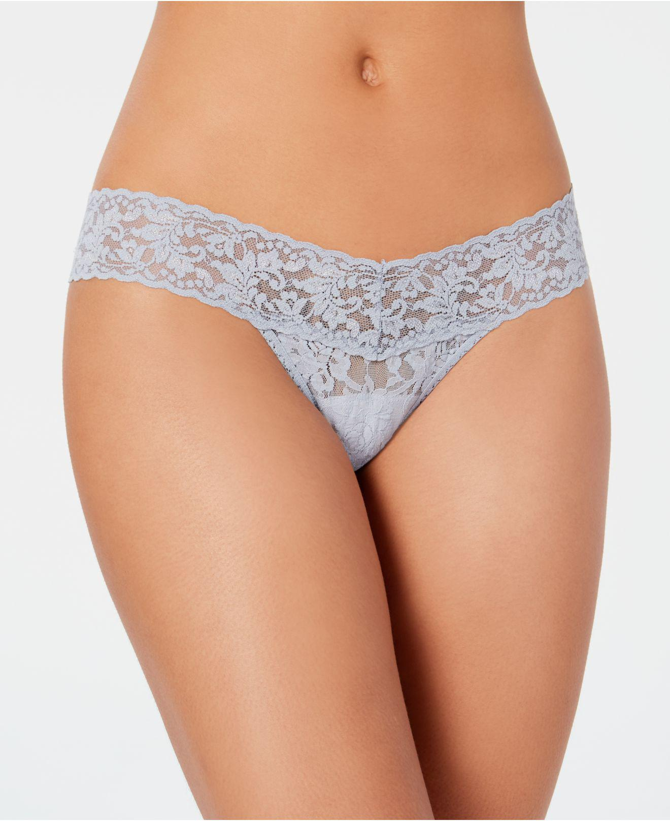 5910781c8b2 Lyst - Hanky Panky Signature Lace Low Rise Thong 4911 in Blue