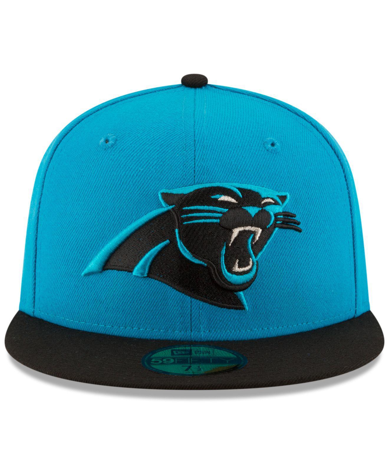 Lyst - Ktz Carolina Panthers Team Basic 59fifty Cap in Blue for Men 8c9fc7cda
