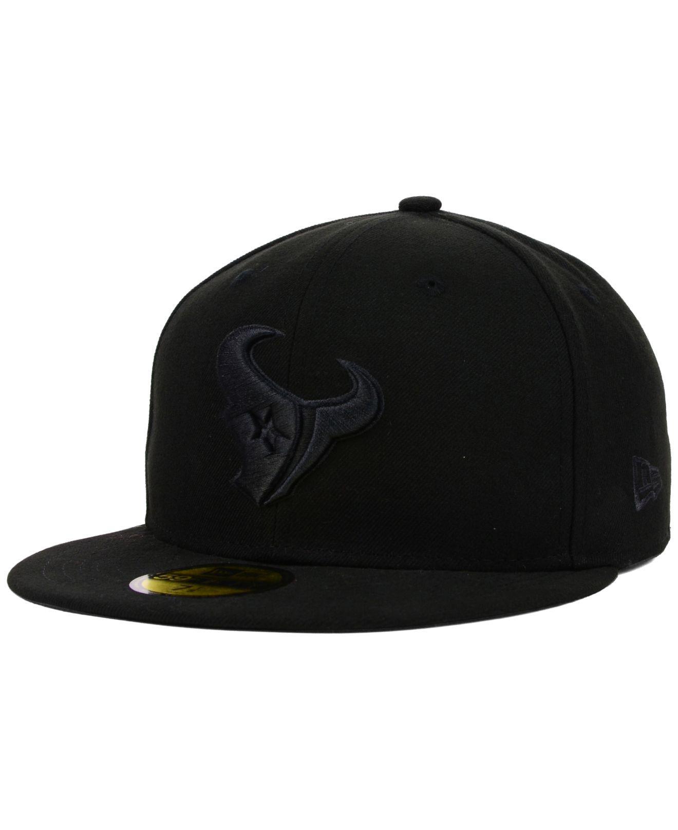 KTZ - Houston Texans Nfl Black On Black 59fifty Cap for Men - Lyst. View  fullscreen 4b8fb66a5