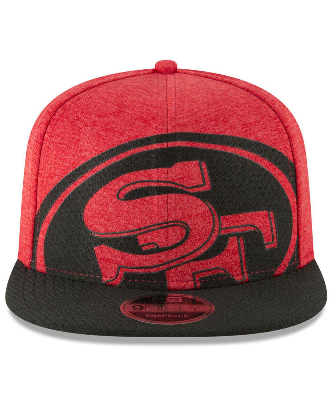 6813abeeb89 Lyst - Ktz San Francisco 49ers Oversized Laser Cut 9fifty Snapback Cap in  Red for Men