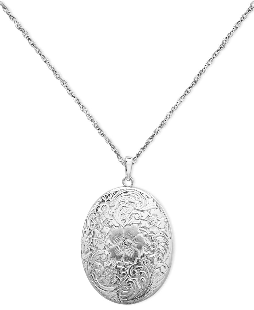 macy s sterling silver necklace four photo engraved