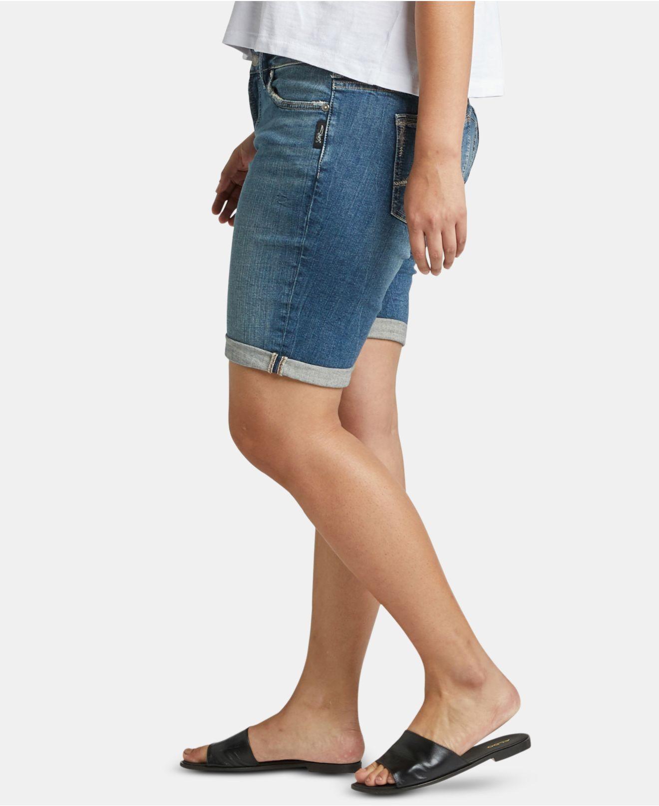 b90a35eb09 Silver Jeans Co. - Blue Plus Size Elyse Bermuda Jean Shorts - Lyst. View  fullscreen