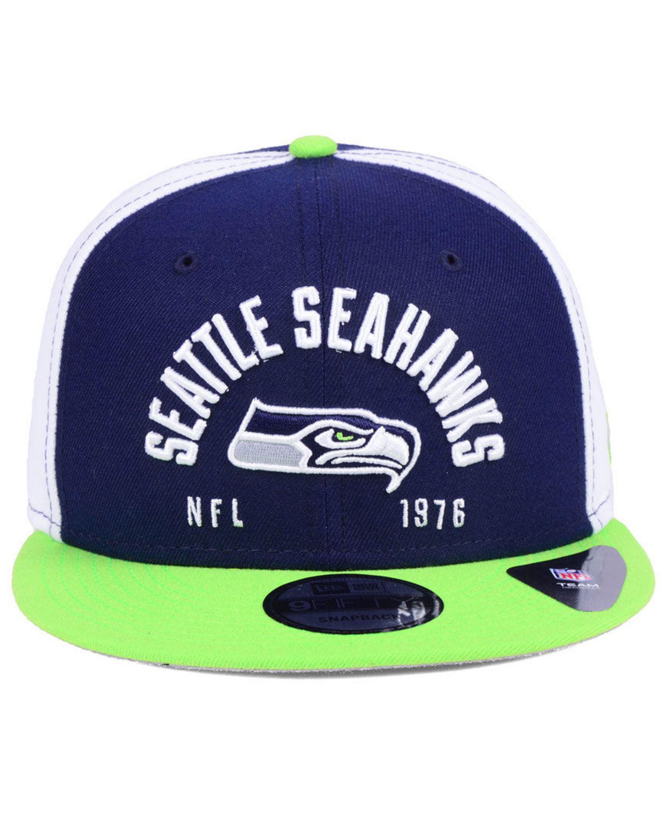 553a999933e Lyst - KTZ Seattle Seahawks Establisher 9fifty Snapback Cap in Blue for Men