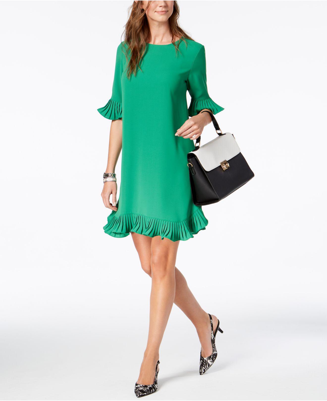 b17171d0b88 Alfani Pleated Flounce Dress