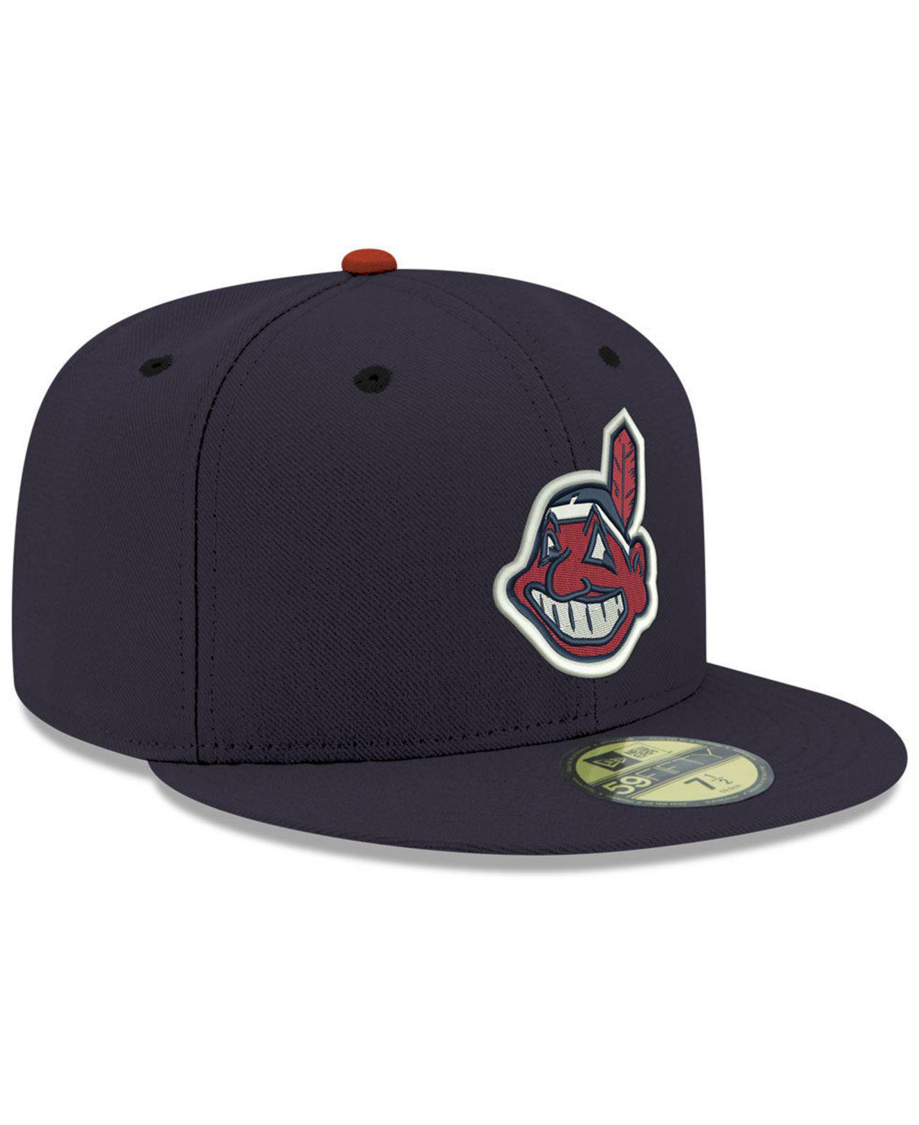 da9c49c028e07 KTZ Cleveland Indians Retro Classic 59fifty Fitted Cap in Blue for Men -  Lyst