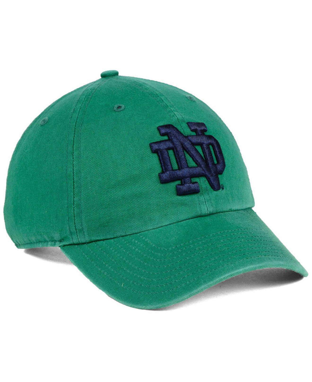 online store ae95f 08d18 ... 50% off lyst 47 brand notre dame fighting irish clean up strapback cap  in d5d81