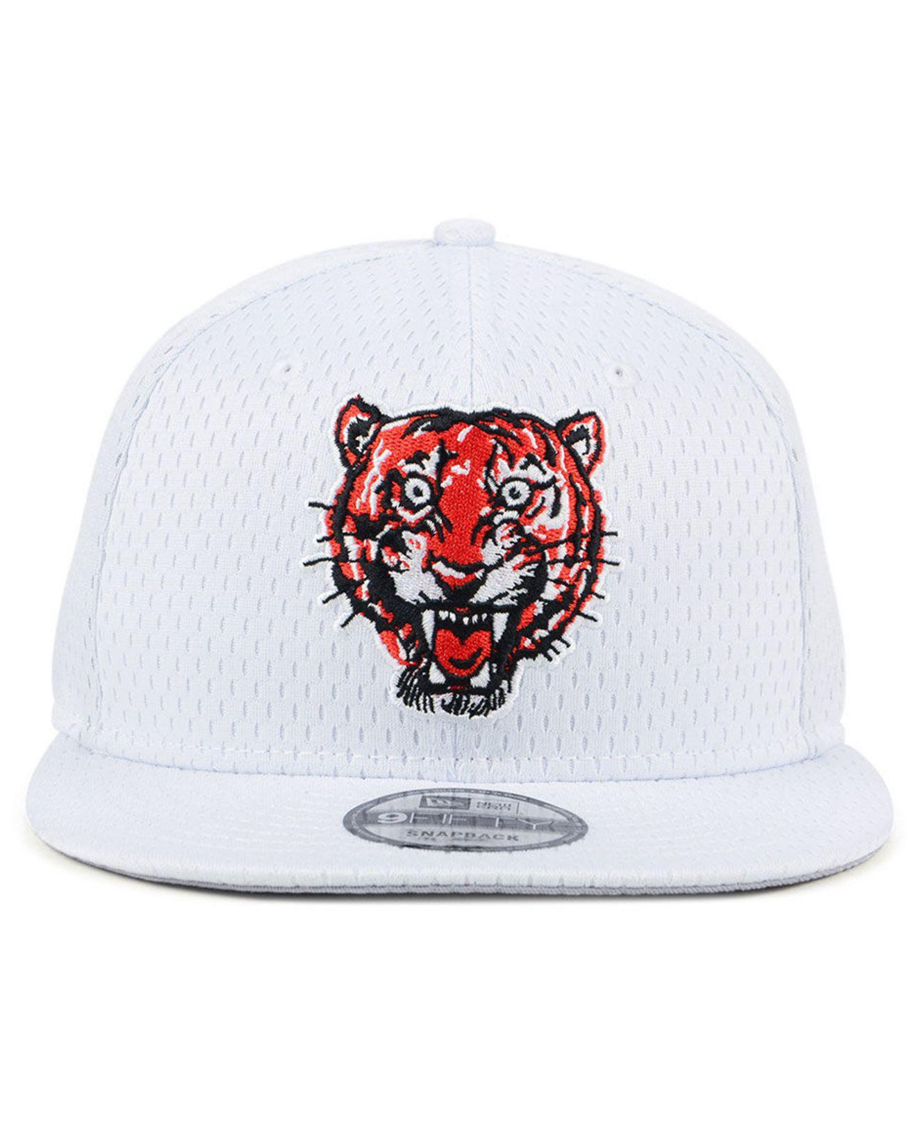 buy popular 2da3b 7693f ... clearance lyst ktz detroit tigers batting practice mesh 9fifty snapback  cap in white for men 95053