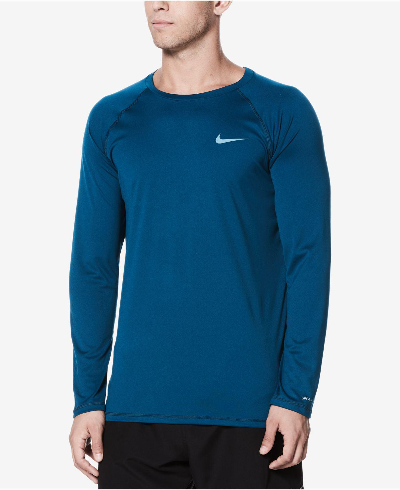 4e9a0d70 Nike Long-sleeve Hydroguard T-shirt in Blue for Men - Lyst