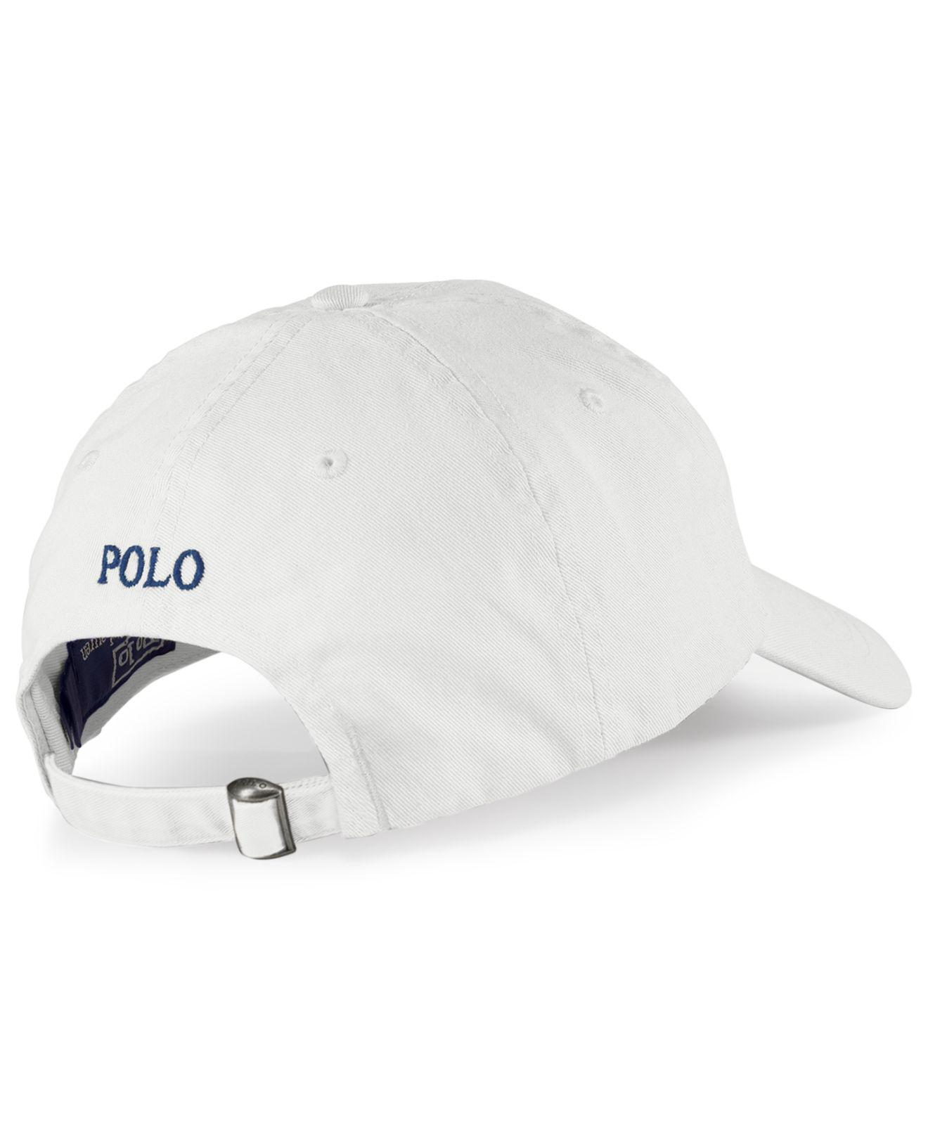 fe778c14 Polo Ralph Lauren Classic Sport Cap in White for Men - Save 28% - Lyst