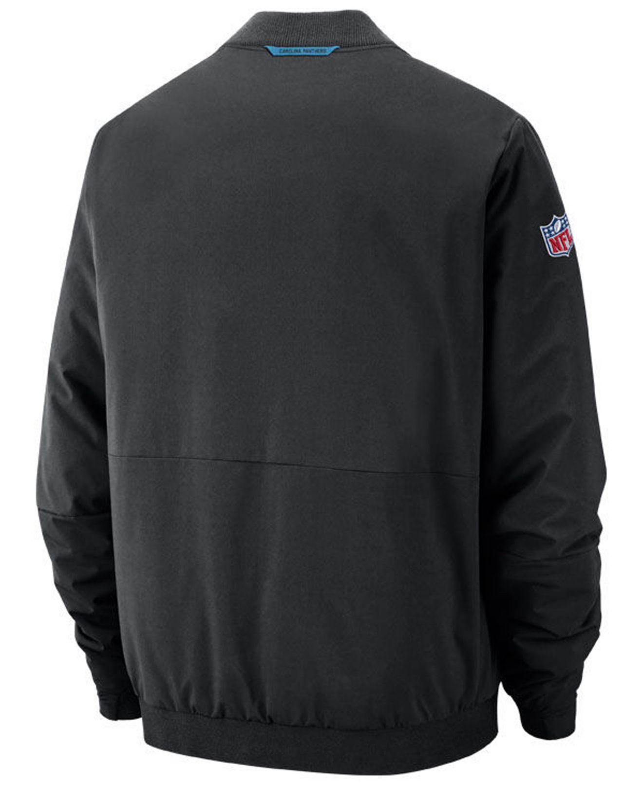 Lyst - Nike Carolina Panthers Bomber Jacket in Black for Men 4c3a2037c