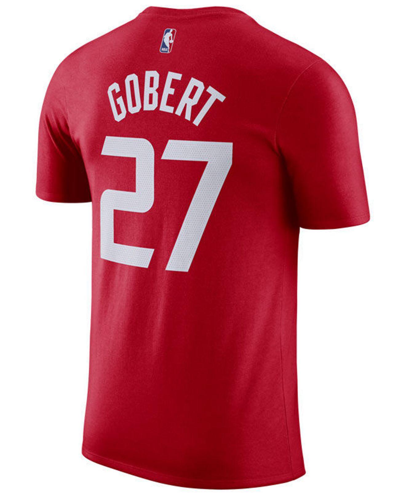 cc75364971dd Lyst - Nike Rudy Robert Utah Jazz City Player T-shirt 2018 in Red ...