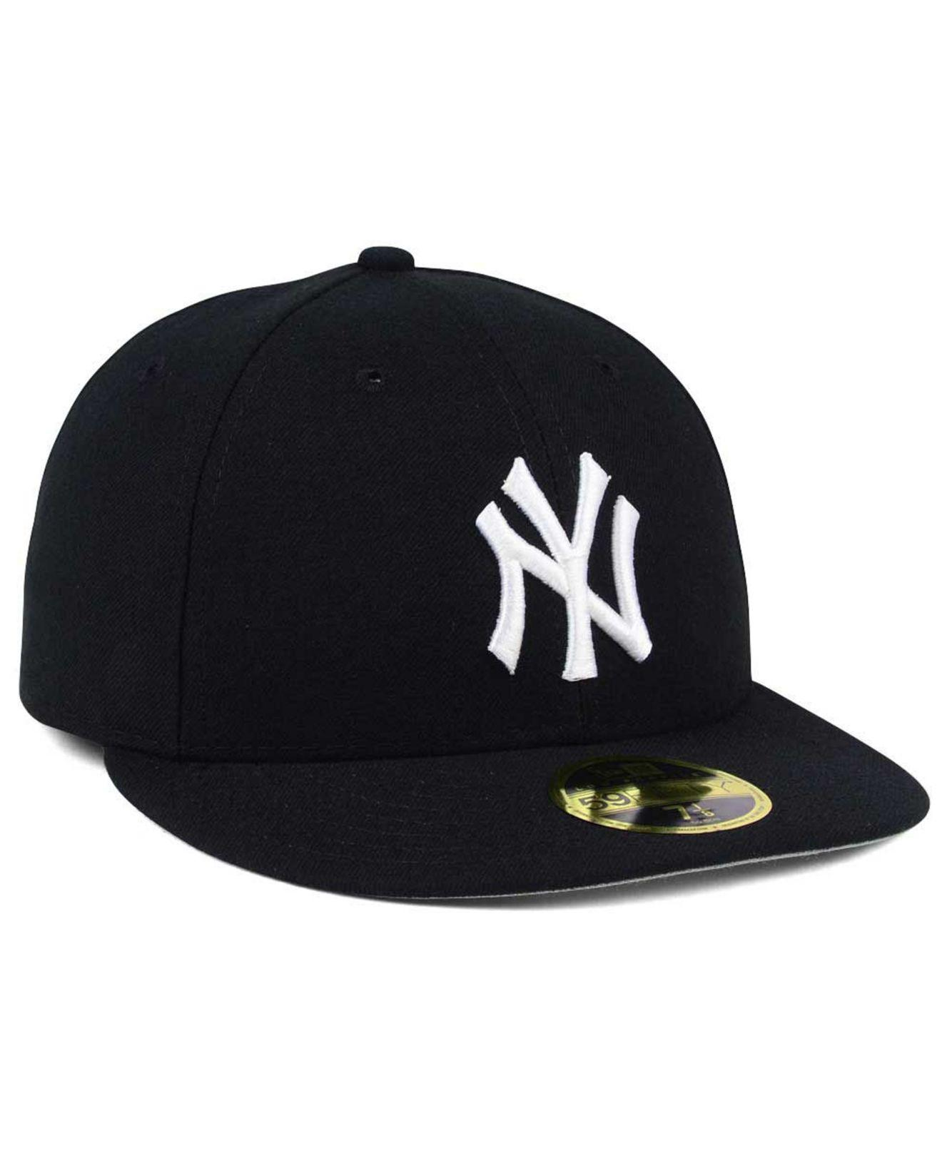 best website 034bf 1d887 KTZ New York Yankees Low Profile C-dub 59fifty Fitted Cap in Black ...