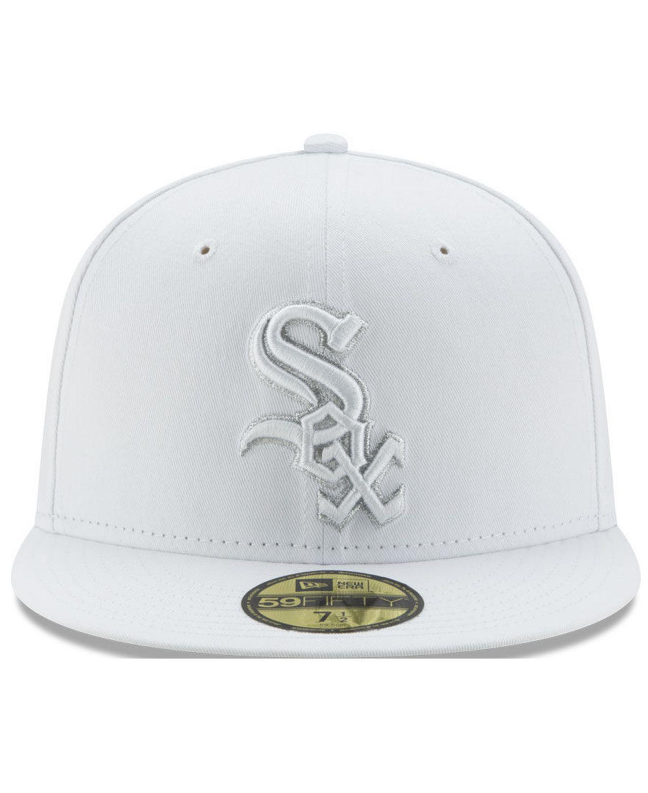 super popular 6723f 2dfa5 ... order lyst ktz chicago white sox pure money 59fifty fitted cap in white  for men 757c4
