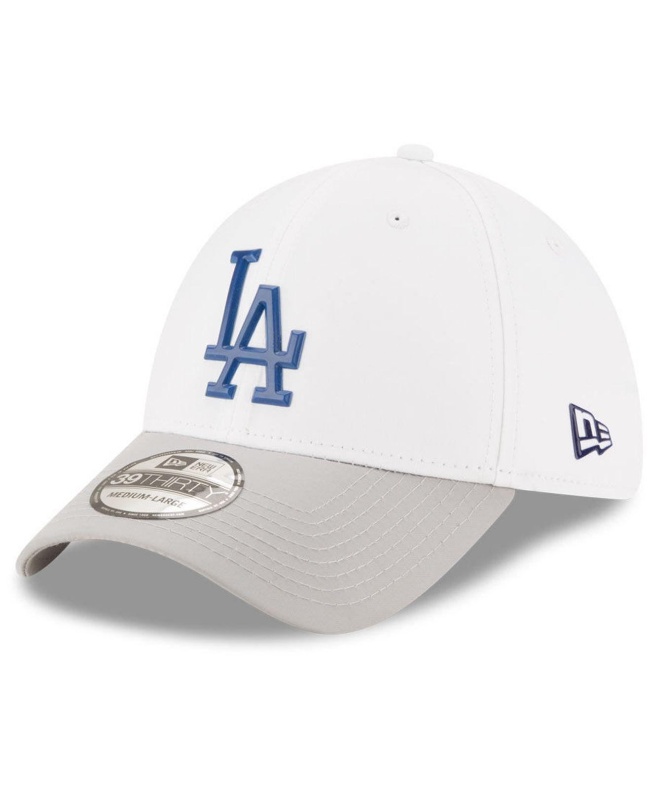 KTZ - Los Angeles Dodgers White Batting Practice 39thirty Cap for Men -  Lyst. View fullscreen 93ed7e084498