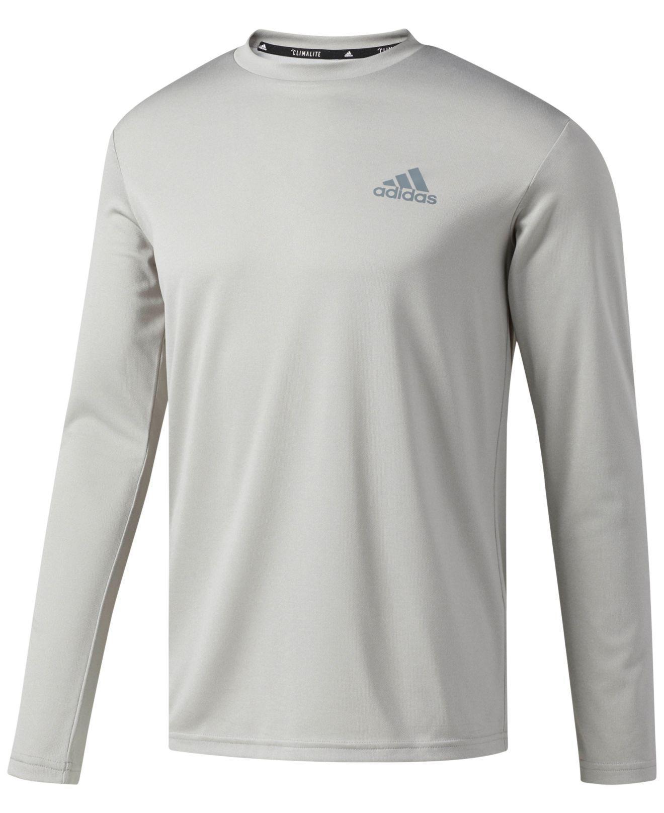 7fe06c56 adidas Men's Climalite® Slim Long-sleeve T-shirt in Gray for Men - Lyst